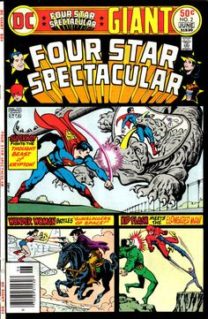 Four Star Spectacular #2, June 1976, Cover by Ernie Chua; the '70s reprint craze!