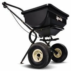 Agri-Fab 85-Pound Push Broadcast Spreader 45-0388 by Agri-Fab Inc. $89.99. 1-year limited warranty. Towed on 2 10-by-1-3/4-inch pneumatic treadcap wheels. Push broadcast spreader efficiently cultivates your lawn with wide distribution of fertilizer. Features comfortable foam handle grip. Provides a spread width of 8-to-10-feet; 85-pound capacity; covers approximately 14,000-square-feet. Amazon.com                The Agri-Fab 85-pound push broadcast spreader maintains a wide...