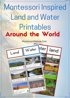 Free Land and Water Forms Around The World (7 Continents) Printables | Montessori Inspired Printables  | Montessori Nature