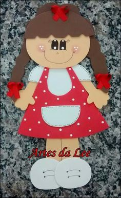 Eva Foam Crafts, Preschool Activities, Diy And Crafts, Crafts For Kids, Felt Dolls, Paper Dolls, Diy Y Manualidades, Puppet Crafts, Decorate Notebook