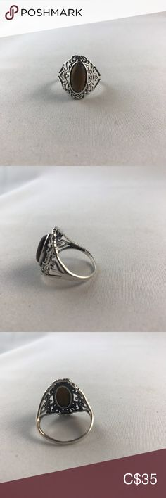 Ring Sterling Silver *DISCLAIMER* All items contain markings OR Sterling).If markings are not present they have been professionally tested to confirm authentication. Womens Jewelry Rings, Women Jewelry, Size 10 Rings, Cherry Blossom, Sterling Silver Rings, Class Ring, Wedding Rings, Cosmetics, Engagement Rings