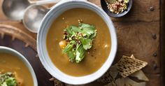 Moroccan roasted sweet potato and chicken soup recipe from Maureen Partridge and Pauls PhysiCAL.