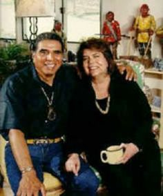 Former Chief of the Cherokee Nation the late Wilma Mankiller with her husband Charlie Soap.