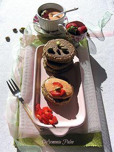 Pancakes ai Pistacchi con Curd di Fragole