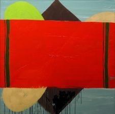 Heidi Pollard  Saddleblanket 2007 Oil on canvas 48 x 48 in.
