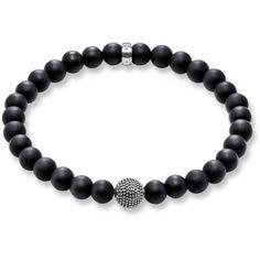 Le noir, ça ne trompe jamais ! Optez pour un bracelet en argent Thomas Sabo Bracelet avec une tête Obsidienne