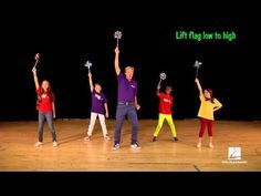 "John Jacobson and friends show us how to dance to the song ""We Are One (Ole, Ola)"" – The Official Song from the 2014 FIFA World Cup, featured in the May/June. Dance It Out, Just Dance, Music Education, Physical Education, Music Express Magazine, Elementary Choir, Zumba Kids, International Dance, Music And Movement"