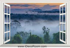 3D Brazil Amazon Forest window wall sticker art decal IDCCH-LS-000458