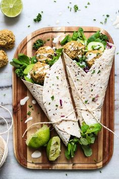 The ultimate baked falafel recipe vegan, gluten-free, easy, healthy two spo Falafel Wrap, Falafel Sandwich, Vegetarian Recipes, Healthy Recipes, Free Recipes, Health Food Recipes, Vegan Sandwich Recipes, Healthy Sandwiches, Cheap Recipes