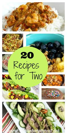 20 Recipes for Two. 20 Recipes for Two - Almost Empty Nest. 20 Recipes for Two One of the challenges of the newly empty nest is learning to cook for only two people again. One of the awesome things about cooking fo Crock Pot Recipes, Crockpot Recipes For Two, Cooking Recipes, Cooking Tips, Cooking Games, Easy Recipes For Two, Chicken Recipes For Two, Budget Recipes, Roast Recipes