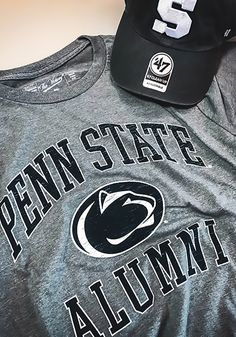 Penn State Nittany Lions Mens Grey Alumni Short Sleeve T Shirt Show off  your team pride b0b1c17bd