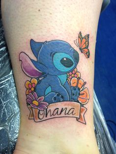 Stitch tattoo with Ohana