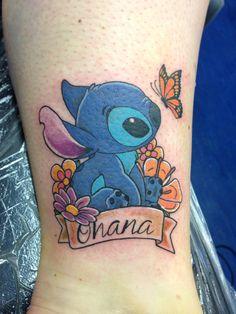 Stitch tattoo with Ohana