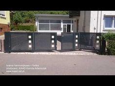 (1) brama harmonijkowa ze zintegrowaną furtką model 003/KAAD/2017 - YouTube