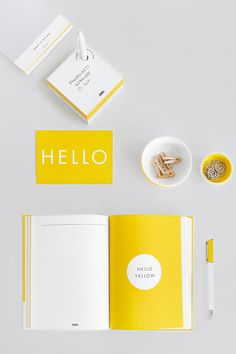Add some yellow to your desk with our gorgeous new Hello Yellow collection of journals, notebooks and more