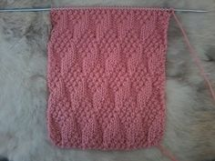 tuto tricot Point granité - YouTube