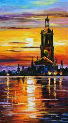 OLD TOWER - LEONID AFREMOV by Leonidafremov.deviantart.com on @deviantART