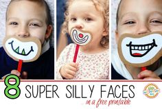Silly Faces Printable from Kids Activities Blog.  Cute idea.  Have your kids make their own as well.