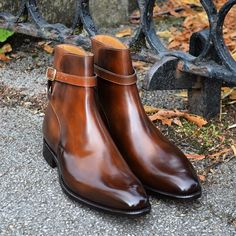 Jodhpur boot in Algarve patina by Carlos Santos