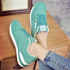 2016 Fall brand casual shoes Zapatillas female comfortable wild breathable students thick-bottomed lace women's flat shoes #Affiliate