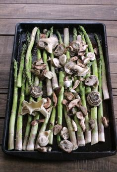 The Beauty of Asparagus and Mushrooms. Take a walk down memory lane with me as I remember asparagus and fancy mushrooms.