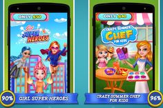 #Sellmysourcecode gives you the best opportunity to live your own game on the store. Girl Super Heroes & Crazy Summer Chef #GameSourcecode are now available with 90% off. Get it now and save your time & #Money.