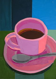 Title: Pink Coffee Cup
