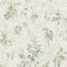 Add elegance to any room with this vintage leaf wallpaper in green from the Brockhall Wallpaper Collection. Available at Go Wallpaper.