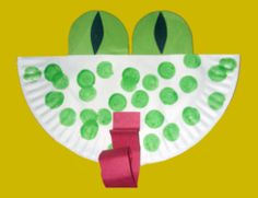 'Paper Plate Frog' arts and crafts project for preschoolers