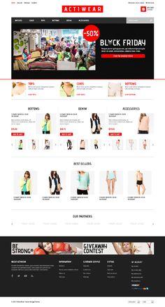 Actiwear, #PrestaShop Responsive Minimal Fashion Theme