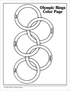 olympic rings color by numbers page from making learningfuncom the olympics free early learning ideas from making learning fun pinterest olympic