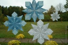 transparent snowflakes