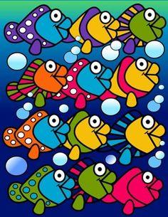 fish clip art, molly tillyer clip art