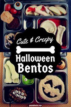 Cute Halloween Lunch? Or Creepy Halloween Lunch? Here are a few ideas for each kind!