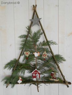 Easy Christmas tree that is totally DIY. You could actually make this for free.