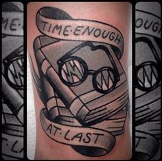 "Twilight Zone episode ""Time Enough At Last"" tattoo done by Antonio Roque MD,US"