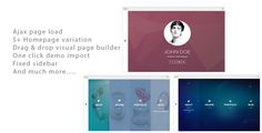 Alamgir - Ajax CV/Resume Theme . Alamgir is a responsive CV/RESUME WordPress theme.This theme is highly optimised as it uses ajax to load pages.It comes with built in drag and drop shortcode.You have 5 built in homepage and other pages. Just play with highly configarable builder to create stunning
