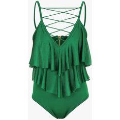 Ruffled viscose knit bodysuit | Women's knit tops | Balmain ($1,765) ❤ liked on Polyvore featuring intimates, shapewear and balmain
