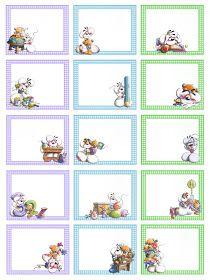 Creazioni Cla: Etichette per la scuola per maschietti Gift Tags Printable, Printable Planner, Diy And Crafts, Paper Crafts, Book Labels, Classroom Labels, Silhouette Cameo Tutorials, School Labels, Mothers Day Crafts