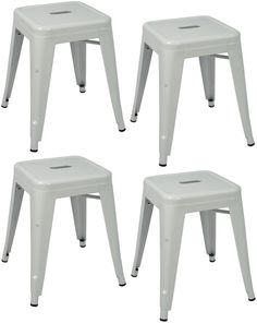 """""""Toledo"""" Replica Tolix Table Stool in White (Set of 4) – Simply Bar Stools"""