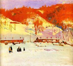 Гавриил Глюк - «Зима», 1955 Soviet Art, Painting, Pictures, Inspiration, Landscapes, Photos, Paisajes, Biblical Inspiration, Painting Art
