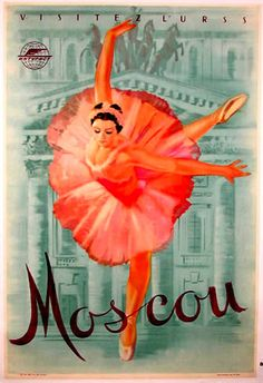 Vintage Ballet Poster Moscow
