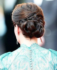 Kate Middleton Braided Knotted Chignon Bun Up-do