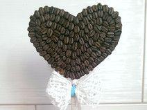 kawowe drzewo- serce z kawy