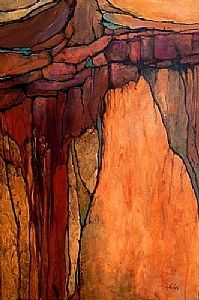 Ancient Elements by Carol Nelson Acrylic ~ 36 x 24