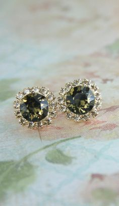 Smoky quartz and topaz crystal earrings | smoky quartz earrings | www.endorajewellery.etsy.com