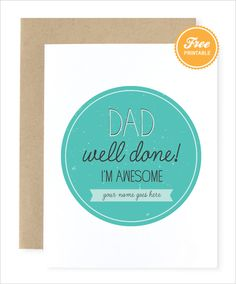 Don't leave your padre hangin'! We have a cute customizable free printable here: http://www.weddingchicks.com/2014/05/30/fathers-day-gift-ideas/