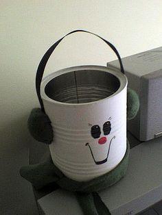 lil snowman tin can