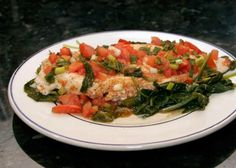 Seasoned+Chicken+and+Spinach+Bake+with+Diced+Tomato+Topping