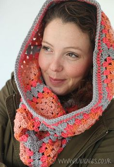 Crochet Granny Square Snood-scarf by Emma@Lululoves, via Flickr